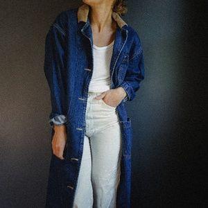 Vintage Lee Trench  Denim Jacket